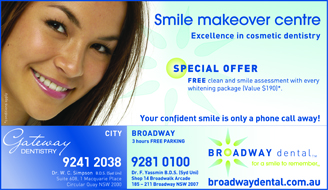 Broadway Dental advertising